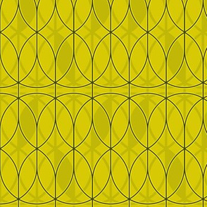 curved abstract yellow
