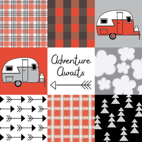 adventure awaits red trailers