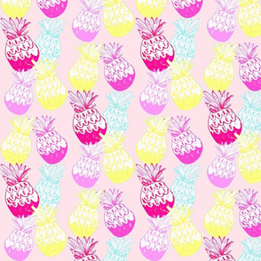white washed baby pink pineapple row - MED467