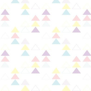 Pastel Triangles Geometric