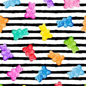 Gummy bears - candy - black stripes -  LAD19