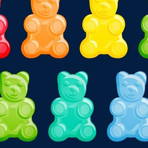 (jumbo scale) Gummy bears - candy - navy -  LAD19
