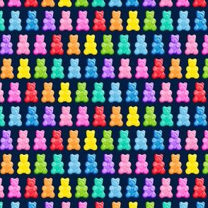 (micro scale) Gummy bears - candy - navy -  LAD19