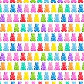 (micro scale) Gummy bears - candy -  LAD19
