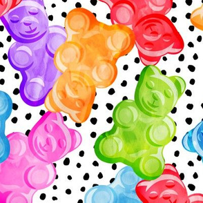 (jumbo scale) Gummy bears - tossed candy - polka dots - LAD19