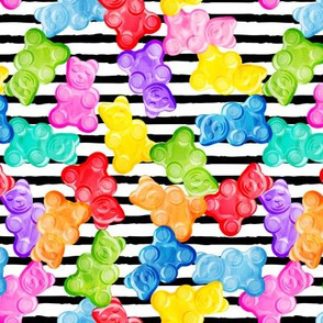 Gummy bears - tossed candy - stripes - LAD19