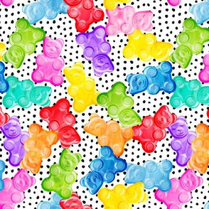 Gummy bears - tossed candy - polka dots - LAD19