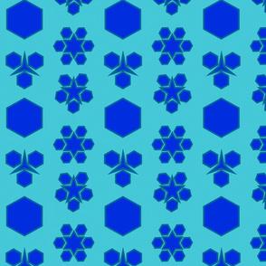 Abstract Minimalism Denim_Blue_ Grey