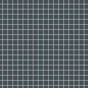 "1"" grid dark blue grid blue and white natural linen with slubs seamless grid"