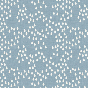 denim blue raindrops scattered rain drops winter showers