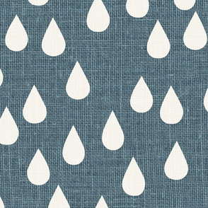 jumbo // dark denim blue raindrops winter showers