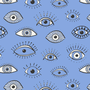 eyes - periwinkle (large scale)