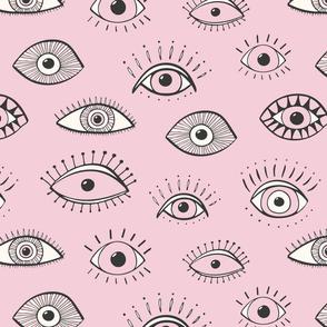 eyes - light pink (large scale)