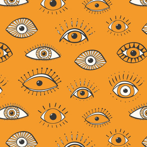 eyes - rusty yellow (large scale)