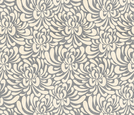 Abstract Chrysanthemum Grey Wallpaper Vivdesign
