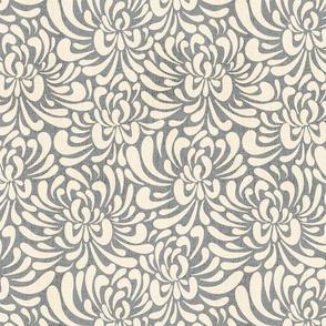 Abstract chrysanthemum - grey