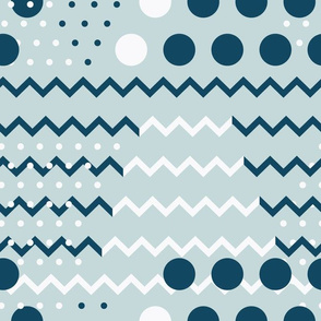 Chevron and Dots Design seamless pattern background