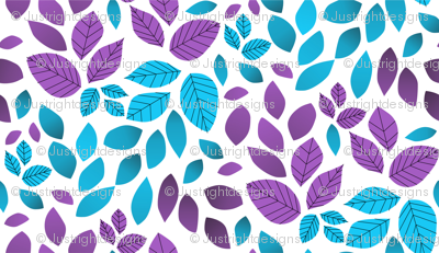 Neon-blue-and-purple-abstract-minimalist-leaves-white-version-01_preview