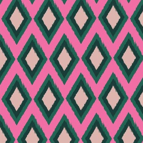 diamond ikat seamless repeat pattern design.