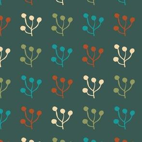 plant foliage repeat seamless pattern design