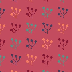 plant foliage repeat seamless pattern design
