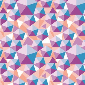 flying polychrome pentagons blue