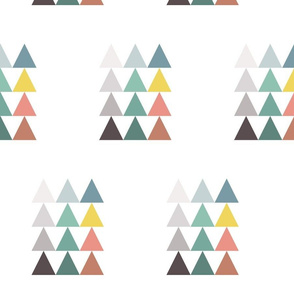 colorful triangle set