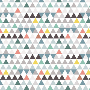 mini colorful triangles in rows