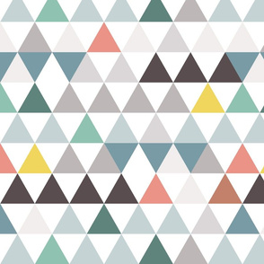 colorful triangles in rows