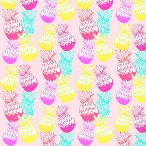 bright baby pink pineapple row - MED467
