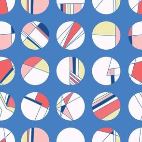 Maritime signal flag style polka dot circles.
