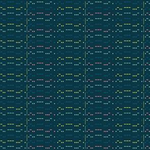 LOVE in morse code - blue bkg