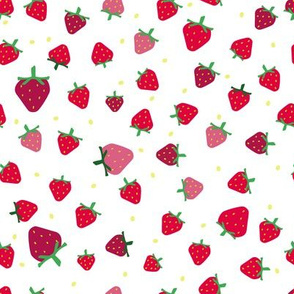 small red strawberries