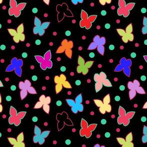 Happy Butterflies - large, black