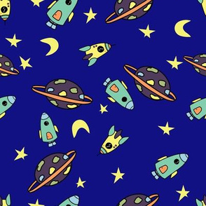 blue space rockets for children