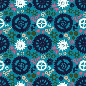 technical flower power blue