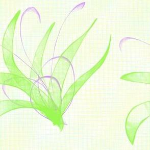 Flower Shape in Green and Purple