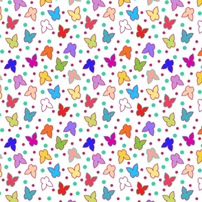 Happy Butterflies - white, small