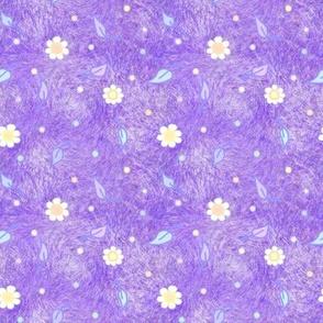 Daisies on pastel purple