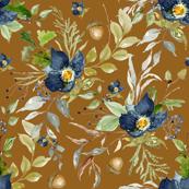 Indigo Autumn Woods Florals // Amber