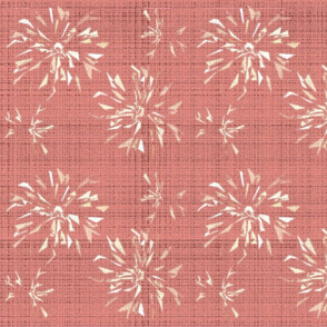 abstract zinnia coral