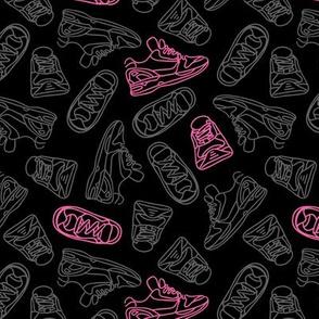 Sneaker Outline // Pink Pop & Black