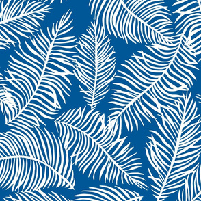 Foliage Blue White