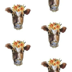 Summer Sunflower Cows