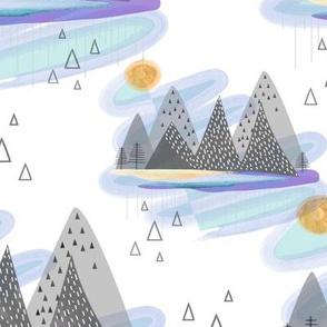 Mountain Absrtact Mininalizm