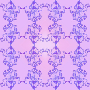 Shibori Iris Tiles Purple