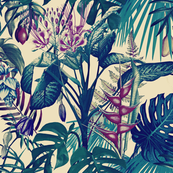 Tropical Flora (vintage blue)