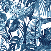 Tropical Flora blue