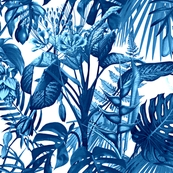 Tropical Flora blue