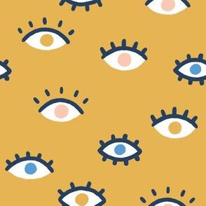 Eyes on yellow
